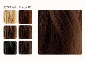 צבע חינה חום לשיער, תוצאה