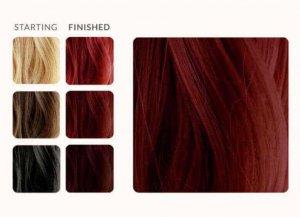 צבע חינה יין אדום לשיער תוצאה