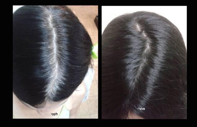 צבע חינה שחורה לשיער לפני ואחרי