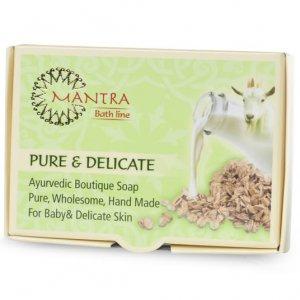 סבון טבעי על בסיס חלב עיזים PURE & DELICATE