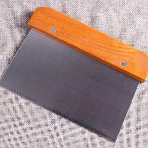 סכין לחיתוך סבון מעץ ונירוסטה, אל חלד